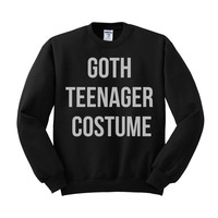 Goth Teenager Costume Crewneck Sweatshirt