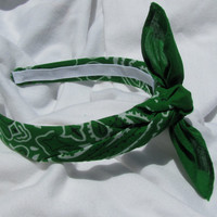 Bandana Knot Headband (KELLY GREEN)