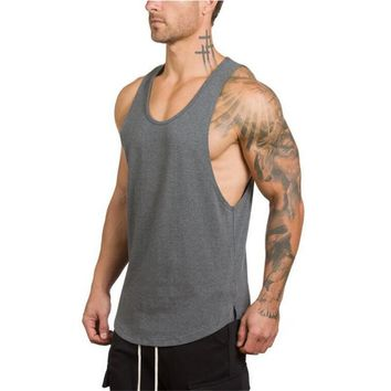 Brand mens sleeveless t shirts Summer Cotton Male Tank Tops gyms Clothing Bodybuilding Undershirt Golds Fitness tanktops tees