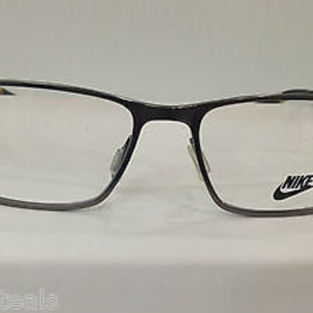 NEW AUTHENTIC NIKE 8200 COL 068 GUNMETAL W/TORTOISE METAL EYEGLASSES FRAME