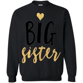 Big heart sister T-shirt little boy girl hoodie brother gift