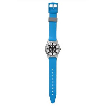 Nautical Navy Gray Rudder Watch