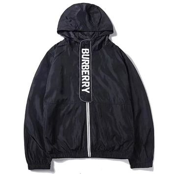 Burberry 2019 new thin men and women models windproof windbreaker black