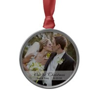 Wedding  |  First Christmas Photo Ornament from Zazzle.com