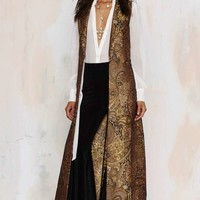 Nasty Gal Go for Baroque Maxi Vest
