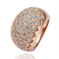 Rose Gold Plated New York Jewels Cocktail Ring