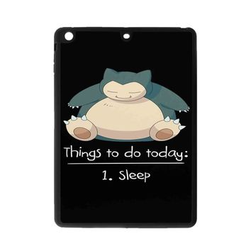 Things To Do Today Sleep Pokemon Snorlax iPad Air 2 Case