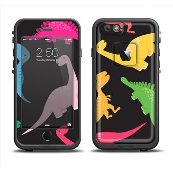 The Vector Neon Dinosaur Apple iPhone 6 LifeProof Fre Case Skin Set