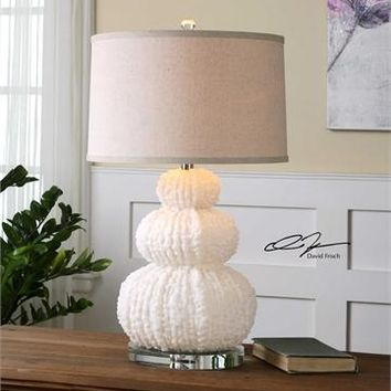 Uttermost Fontanne Shell Ivory Table Lamp