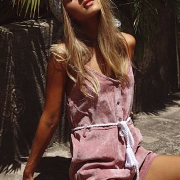 Musk Cord Playsuit - Playsuits by Sabo Skirt