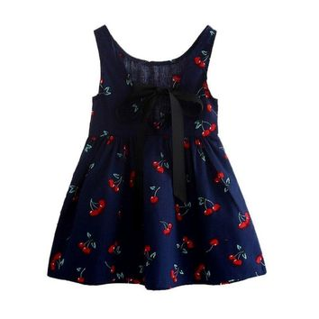 Newest Style Summer Baby Kid Cotton Vest Princess Girls Dress Newborn Infant Sundress Clothes