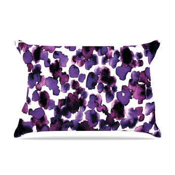 "Ebi Emporium ""Giraffe Spots - Purple"" Lavender Pillow Case"