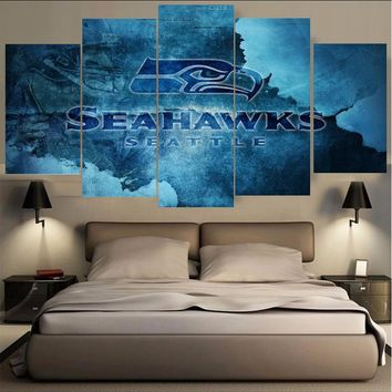 HD Printings Seattle Seahawks Sport Paintings Wall Art Home Decoration Unframed Canvas Oil Painting For Living Room Bedroom