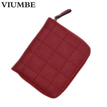 Fashion Women Wallet Cion Purse zipper poucht Clutch Lady Small Bag Genuine Leather Purse womens Wallets and Purses card holder