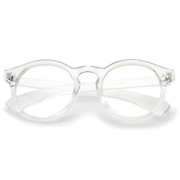 Retro Round P3 Transparent Clear Lens Glasses A965