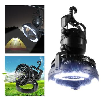 Portable Camping Light Hiking Night Hanging lamp 2-in-1 Camping Fan Light Camping Lantern Cooling Cell Fan Portable Tents lamp