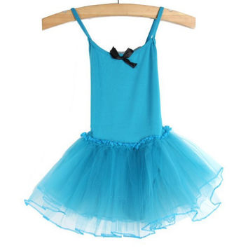 Children Kids Girls Gymnastics Dance Dress Girl Ballet Tutu Skirt Leotard Skate Dresses Outfits NW