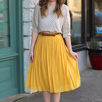 Luck Be a Lady Skirt {Mustard}