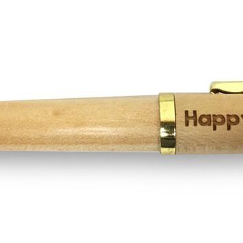 """Happy Teacher's Day"" Maple Classic Twist Ballpoint Pen - Laser Engraved Cute Appreciation Gift (Maple)"