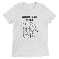 Vegan T Shirt, Elephants Are Vegan, Gift For Vegans, Vegan Activist, Animal Rights