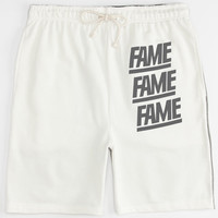 Hall Of Fame Split Block Mens Sweat Shorts Heather  In Sizes