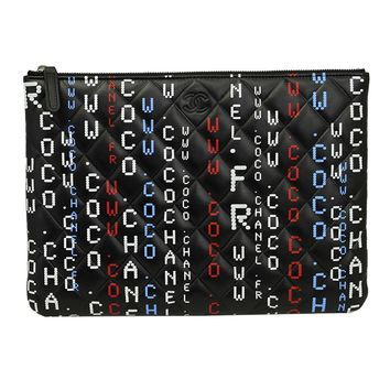 CHANEL BLACK CAVIAR LEATHER CLUTCH BAG A826658 POUCH