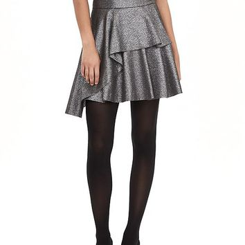 Banana Republic Womens Monogram Metallic Pleat Skirt