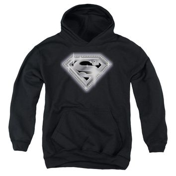 Superman - Bling Shield Youth Pull Over Hoodie