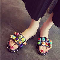 summer shoes woman sandals toe shoes punk style