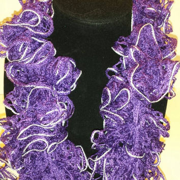 Purple Sparkle Ruffle Scarf!