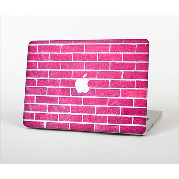 The Pink Brick Wall Skin Set for the Apple MacBook Air 11""