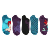 Disney The Little Mermaid Scales No-Show Socks 5 Pair