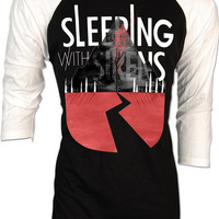 Sleeping with Sirens Kellin Quinn Rise Retro Vintage Adult Raglan Baseball 2 Tones men women S,M,L