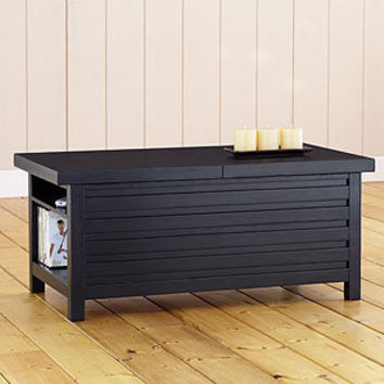 Black Casa Sliding Top Storage Coffee Table | Living Room Furniture| Furniture | World Market