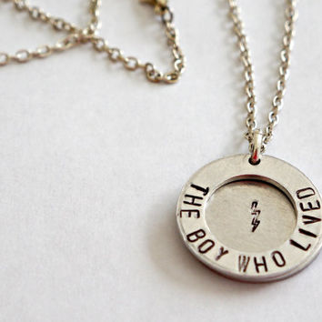 """Harry Potter Inspired """"The Boy Who Lived"""" Necklace - Harry Potter Jewelry"""