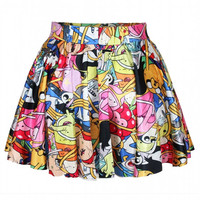 Aoki Fashion - Adventure Time Allover Print Mini Skirt