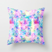 Pineapple Dream Throw Pillow by Schatzi Brown