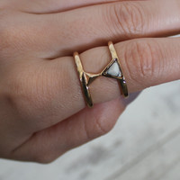 Bella Stone Triangle Ring
