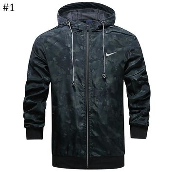 NIKE autumn new hooded high quality men's windproof jacket #1