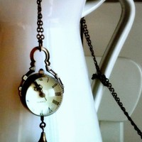 romantic vintage pocket watch ball necklace with by mariantonieta