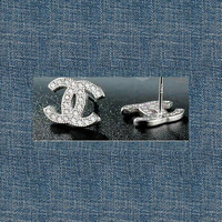 Chanel Inspired Stud Earrings