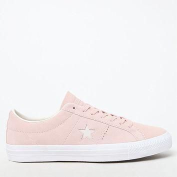 converse one star premium suede low top pink and white shoes at pacsun com