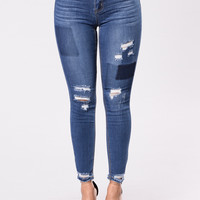 Jazz Playing Jeans - Medium Wash