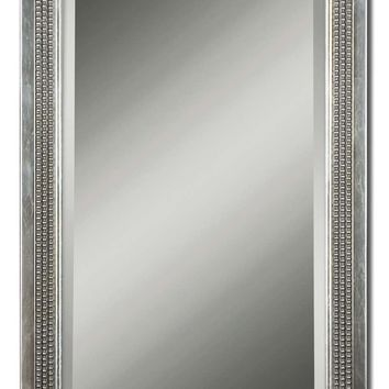 Triple Beaded Silver Leaf Rectangular Wall Mirror by Uttermost