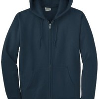 Basic Classic Fit Zip-up Hooded Sweater