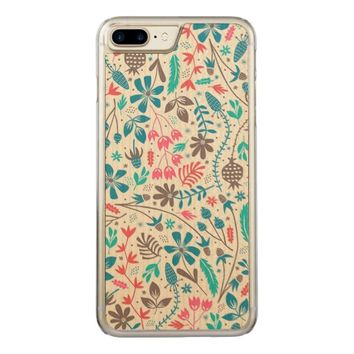 Retro Floral Pattern Carved iPhone 7 Plus Case