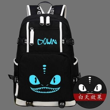 Hot Film How to Train Your Dragon 2 Backpack Canvas Bag Luminous Schoolbag Travel Bags