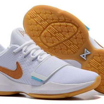 Nike Zoom Paul George PG 1 Ivory White Basketball Shoes