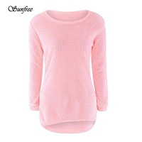 Sunfree 2016 New Hot Sale Fashion Womens Casual Solid Long Sleeve Jumper Sweaters Brand New High Quality Dec 5