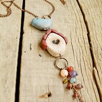 Bird necklace, Bird jewelry, Birdhouse necklace, Blue bird necklace, Rustic bird necklace, long beaded necklace, Bird lovers gift, Mom gift